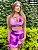Conjunto brocado tie dye rosa roxo- short  - Imagem 6