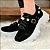 Tênis Feminino Chunky Sneaker Nobuck Pedraria - Preto - Imagem 2