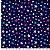 Tricoline Estelinhas Marinho, 100% Algodão, Unid. 50cm x 1,50mt - Imagem 1