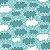 Tricoline Nuvem Azul, 100% Algodão, Unid. 50cm x 1,50mt - Imagem 1