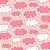 Tricoline Nuvem Rosa, 100% Algodão, Unid. 50cm x 1,50mt - Imagem 1