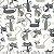 Tricoline Gato Maroto Branco, 100% Algodão, Unid. 50cm x 1,50mt - Imagem 1