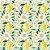 Tricoline Limão Fundo Claro, 100% Algodão, Unid. 50cm x 1,50mt - Imagem 1
