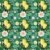 Tricoline Limão Fundo Verde, 100% Algodão, Unid. 50cm x 1,50mt - Imagem 1