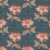Tricoline Floral Arabesque Jacobean Petróleo, 100% Algodão, Unid. 50cm x 1,50mt - Imagem 1
