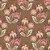 Tricoline Floral Arabesque Jacobean Marrom, 100% Algodão, Unid. 50cm x 1,50mt - Imagem 1