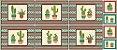 Tricoline Painel Cactus, 100% Algodão, Unid. 60cm x 1,50mt - Imagem 1