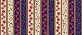 Tricoline Faixas Maças e Cerejas, 100% Algodão, Unid. 50cm x 1,50mt - Imagem 1