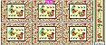 Tricoline Painel Galinhas (Claro), 100% Algodão, Unid. 60cm x 1,50mt - Imagem 1