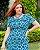 Vestido Tubinho Estampado Em Malha Crepe Com Vivo Em Azul Marinho - 420490 - Imagem 2