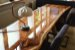 Resina epóxi cristal rígida para vitrificação de mesas, madeiras e piso 3D 1 Kg - A+B - Imagem 1