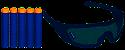 Kit Nerf Strike Elite Óculos Vision Gear + 5 Dardos - Hasbro - Imagem 3
