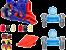 Lançador de Carrinhos Nerf Nitro Flashfury Chaos - Hasbro - Imagem 1