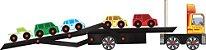 Brinquedo de Madeira Caminhão Cegonha Carimbras - Brinquedo Educativo em Madeira - Imagem 2