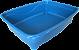 Bandeja Higiênica Loopy Retangular Azul - Imagem 1