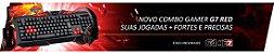 COMBO GAMER G7 RED MOUSE + TECLADO + HEADSET + MOUSEPAD - Imagem 3
