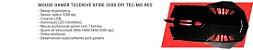 COMBO GAMER G7 RED MOUSE + TECLADO + HEADSET + MOUSEPAD - Imagem 5