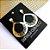 Brinco Gota Dourada White Opal - BG847WO - Imagem 1
