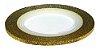 Fita Metálica Adesiva para Unha - Dourada com gliter - Imagem 1