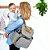 Bolsa Maternidade Grand Central Take It All Backpack Black White Stripes Skip Hop - 216101 - Imagem 3