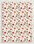 Papel Crepom Floral 02 - Vermelho - 30 unid - Imagem 1