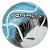 Bola Futebol Campo Penalty RX R3 Fusion VIII - Branco e Azul - Imagem 1
