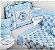 Jogo De Berço Estampado Muito Mimo Azul Minasrey- Infantil  - Imagem 1