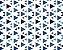 Linho Florata - Cor Geométrico Azul 062740 - Imagem 1