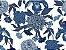 Linho Florata - Floral Azul 092745 - Imagem 1