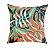 Almofada com Enchimento Soleil Digital 50X50 - Folha Verde / Laranja - Imagem 1