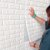 Placa Adesiva 3D - Tijolinho Branco - 70cm x 76cm - Imagem 2