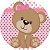 URSINHA ROSA 002 19 CM - Imagem 1