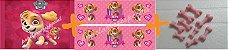 COMBO PATRULHA CANINA ROSA (PAPEL + FAIXA + CONFEITO) - Imagem 1
