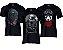 Kit 3 Camisetas Masculinas Estampadas Algodão Premium Preta  - Imagem 1