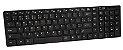 Kit Teclado E Mouse Sem Fio Slim Wireless Alcance Preto - Imagem 1