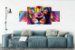 Quadros Decorativos Mosaico Tecido C/ Chassi De Madeira Leão - Imagem 2