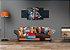 Quadro Leão Abstrato Em Tecido Chassi De Madeira 120 X 50 Cm - Imagem 2