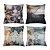 Kit 4 Capas De Almofada Em Tecido Oxford Decorativas 45x45 - Imagem 1