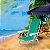 Cadeira De Praia Alumínio Mor Reclinavel 8 Posições Verde Sannet - Imagem 2