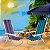 Cadeira De Praia Alumínio Mor Reclinavel 8 Posições Sortida - Imagem 3
