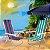 Cadeira De Praia Alumínio Mor Reclinavel 4 Posições Sortida - Imagem 4