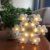 Luminária De Led Decorativa Floco De Neve Festa Decoração - Imagem 5