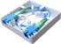 Caixa Terminação Fibra Óptica Roseta Pto 2p Ftth Branca 86x86x27 - Imagem 3