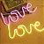 Luminária Love Neon Led de Parede USB e Pilha - Imagem 1