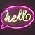 Luminária Hello Neon Led de Parede USB e Pilha - Imagem 1