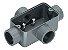 "Condulete de Alumínio Fixo Tipo T 1/2"" Com Rosca BSP - Imagem 2"