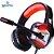 Headphone Gamer 7.1 Drive Hyperx LED Som Surround Microfone GH-X1800 Preto e Vermelho - Imagem 1