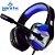 Headphone Gamer 7.1 Drive Hyperx LED Som Surround Microfone GH-X1800 Preto e Azul - Imagem 1