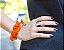 Pulseira de Jarina fatiada com crochê - Imagem 3