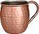 Caneca Moscow Mule Drink Inox Cobreada Martelada 470 Ml - Imagem 1